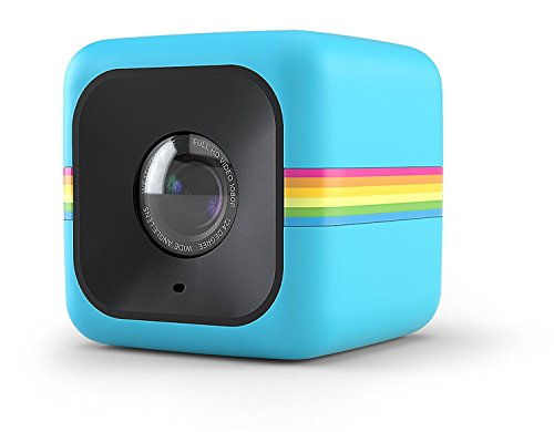 Blue : Polaroid Cube+ 1440p Mini Lifestyle Action Camera With Wi-fi & Image Stabilization (blue)
