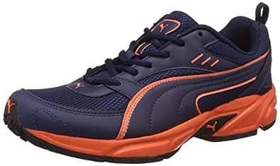 Puma Men's Atom Fashion III Dp Peacoat and Orange Clown Fish Running Shoes - 10 UK/India (44.5 EU)