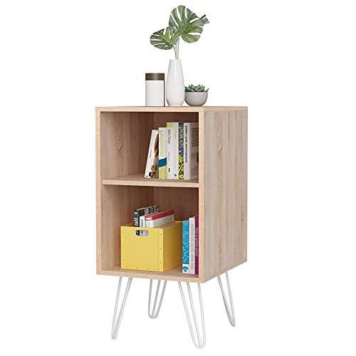 AXJa Bücherregal Wandregale Bücherregal, Boden Kleines Bücherregal Kostenfreies Schließfach Bodenregale im japanischen Stil Einfaches Lagerregal Starke Stabilität