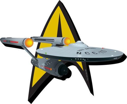Aquarius Star Trek Schiff & Insignia Funky Chunky Magnet -