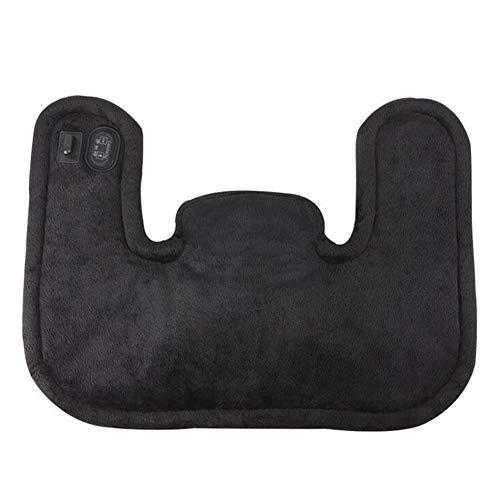 Elektrische Nackenmassagegerät Schal Schulter Warme Heizkissen Heiße Kompresse Moxibustion Schals,Black