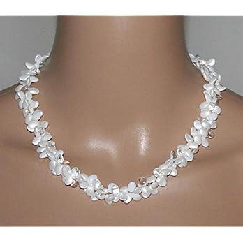 Halskette Perlenkette Perlencollier 45cm, Damenschmuck Geschenk für sie
