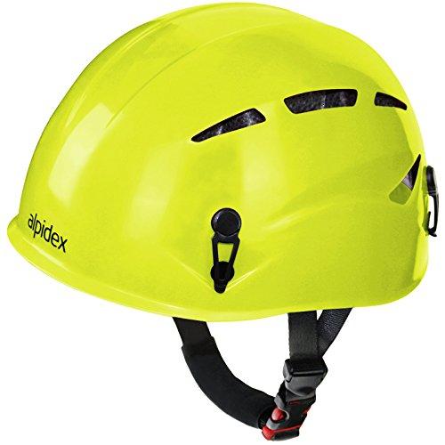 ALPIDEX Casco universale per arrampicata e alpinismo ARGALI via ferrata in molti colori diversi moderni, Colore:lime green