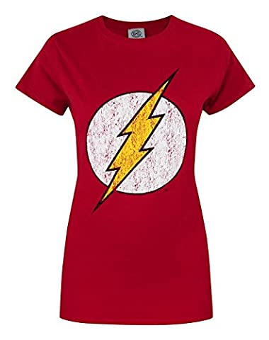 Offical Flash Distressed Logo Women's T-Shirt (L)