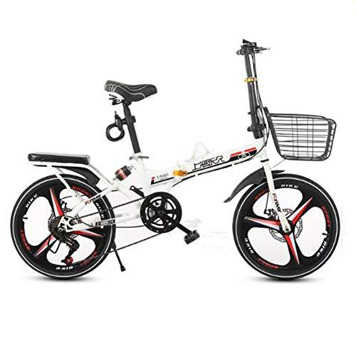 TX Bicicleta Plegable 20 Pulgadas De Doble Choque