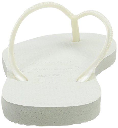 Havaianas Slim 4000030, Infradito Donna Bianco (White 0001)