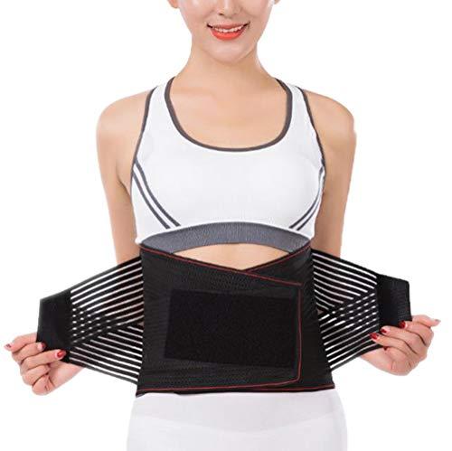 DaiHan Fitness Gürtel, Rücken Gurt, Lendenwirbelstütze, Rückenbandage Sports, Verstellbare Rückenstütze, Bauchweggürtel für Männer und Frauen rot M