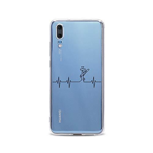 licaso Huawei P20 Handyhülle Smartphone Huawei Case aus TPU mit Shisha Print Motiv Slim Design Transparent Cover Schutz Hülle Protector Soft Aufdruck Lustig Funny Druck