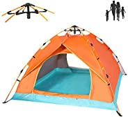 QOZY Camping Tent 4 Person, Instant Automatic 1 Minute Pop Up Dome Tent,Portable Windproof Lightweight Anti UV