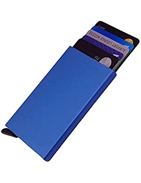 Dlife Ultra Delgada Carteras de Aluminio Cartera,Tarjeteros Para Tarjetas De Crédito RFID,Cartera tarjetero para...