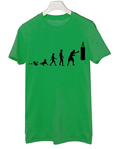 Tshirt boxe evolution - pugilato - sport - Tutte le taglie by tshirteria Verde