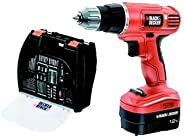Black and Decker EPC12100K-QW Rechargeable Drill Driver 12V with 100 Accessories and Kitbox