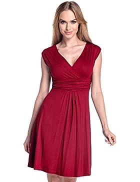 Glamour Empire Donna A-Line Senza Maniche Vestito Estivo Abito IT 40-50 256