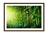 Bild im wengefarbenen Holzrahmen - Bild im Rahmen - Bild auf Leinwand - Leinwandbilder - Breite: 100cm, Höhe: 70cm - Bildnummer 3558 - zum Aufhängen bereit - Bilder - Kunstdruck - F1MAA100x70-3558