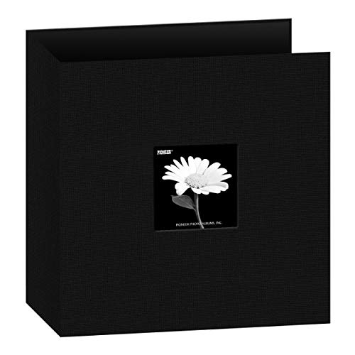 Pioneer 81/5,1cm von 27,9cm 3Ring Stoff Rahmen Cover Memory Binder, tief schwarz (Pioneer 8x8 Scrapbook Album)