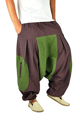 virblatt – Haremshose Herren Damen Aladinhose alternative Kleidung – Feuer LXL