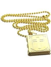 1033ee2ac47f P Prettyia Retro Biblia Abierta De Titanio De Acero Inoxidable Colgante De Jesús  Cruz para Hombres Y Mujeres Joyas…