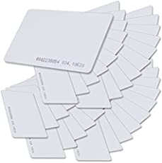 Inditradition Access Control Proximity Cards | Frequency 125 Khz with RFID Technology (Thickness 1 MM, White) (Pack of 10)