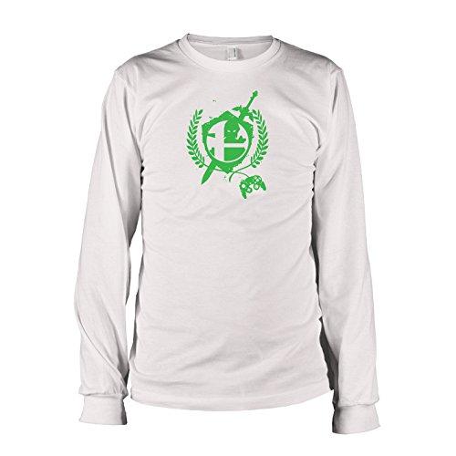 Langarm T-Shirt, Herren, Größe S, weiß (Legend Of Zelda Triforce Helden Kostüme)