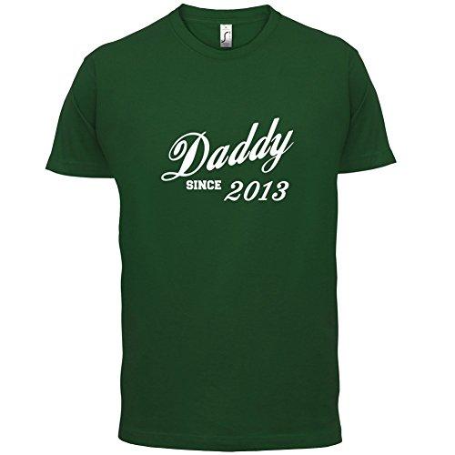 Papa seit 2013 - Herren T-Shirt - 13 Farben Flaschengrün