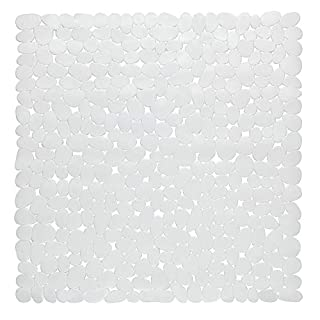 Sweet Home Collection Adhesive, Durable, Super Grip, Machine Washable and Anti Bacterial, White, Shower Stall (54'' x 78'')