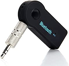 Rewy CB-395 Car Compact A2DP Wireless Audio Receiver Bluetooth V4.1 with Hand-Free-Calling, Built-in-Microphone Compatible with All Smartphone Device (Assorted Colour)