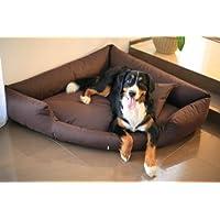 [Gesponsert]tierlando® Orthopädisches Hundebett TRIVIA Visco Eckbett Eckhundebett Festes Polyester. Ein wahres Platzsparwunder. Gr. L 100cm Braun