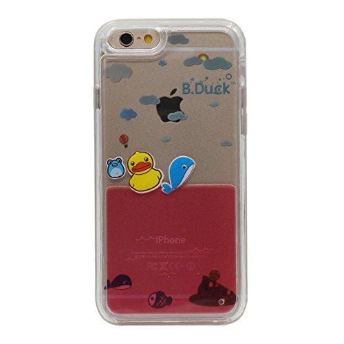 iPhone 6S Plus Schwer Hülle, Fließfähige Flüssigkeit Rubber Duck Serie Schutzhülle Case Cover für Apple iPhone 6 Plus / 6S Plus 5.5 inch Transparent Case rot 2