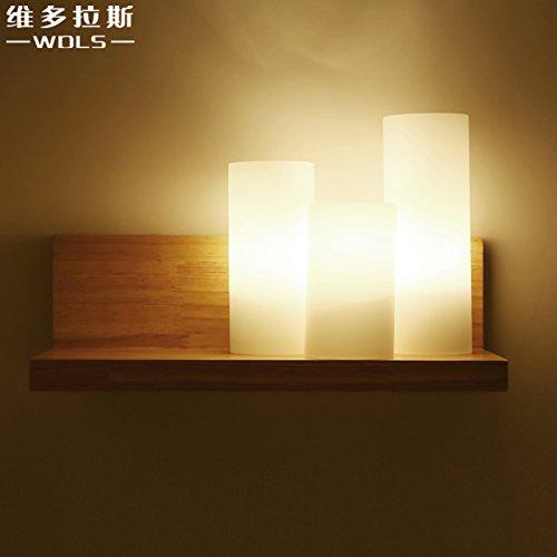Di Illuminazione a parete in legno Dollas Corridoio minimalista moderno Lampade testimone di vialetto Camera da letto lampade Lampade Giapponese dei accessori