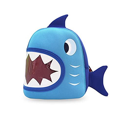 NohooHaha 3D Hai Kinderrucksäcke für Kindergarten,Schule und Wandern,für 2-5 Jahre Mädchen und Jungen