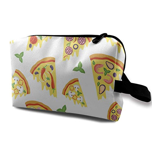 Cozy Slices of Pizza Pencil Bag Stationery Receive Bag -