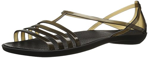 Crocs Women's Isabella W Flat Sandal, Black, 4.5 UK