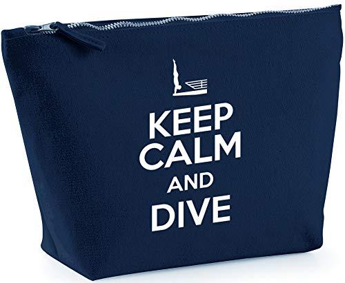 5c189c1e1a20 Hippowarehouse Keep Calm and Dive Bolsa de Lavado cosmética Maquillaje  Impreso 18x19x9cm