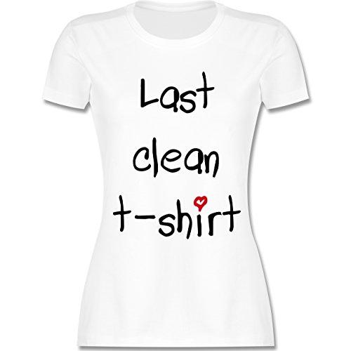Festival - Last clean t-shirt Herzchen - tailliertes Premium T-Shirt mit Rundhalsausschnitt für Damen Weiß