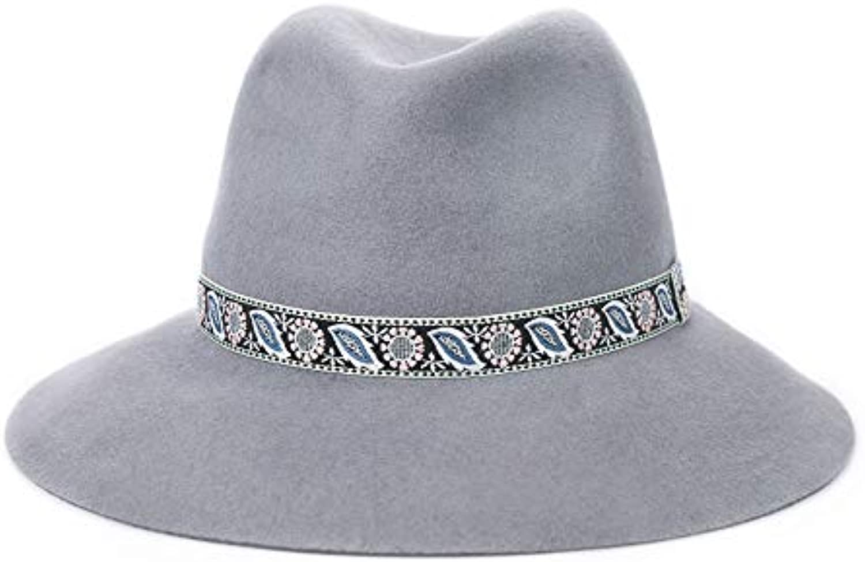 Berretto Cappello Cappello da Donna Elegante Cappello Lana di Lana Cappello  Cappello da Cowboy (Coloreee A) Parent 33e1f5 84a86c471fef