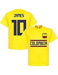 Retake Colombia James 10 Equipo Camiseta – Amarillo b2cde944a9a6d