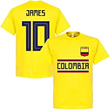 Retake Colombia James 10 Equipo Camiseta – Amarillo, ...