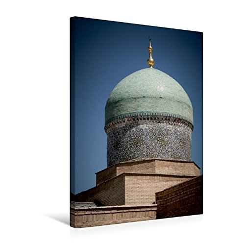 Calvendo Premium Textil-Leinwand 50 cm x 75 cm hoch, EIN Bild aus dem Kalender Usbekistan - Domes & Minaretts | Wandbild, Bild auf Keilrahmen, Fertigbild auf echter Leinwand, Leinwanddruck Orte Orte