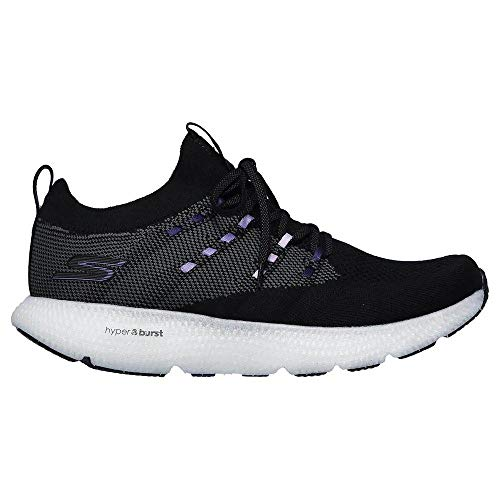 Skechers Womens GOrun 7 Black/Purple Running Shoe - 5.5
