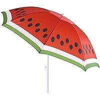 Sombrilla de playa de sandía de acero roja de 180 cm Garden - LOLAhome
