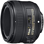 Nikon 2199 AF-S FX NIKKOR 50mm f/1.8G Lens with Auto Focus for Nikon DSLR Cameras