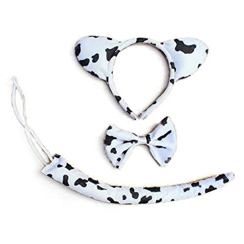 TopTie 3PCS Tier Kopfband Set, mit Kopfbedeckungen, Fliege, Schwanz-Party Kostüm (Party Animal Kostüm Gruppe)