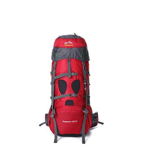 Diretto 75L grande capacità sacchetto di alpinismo all'aperto escursioni zaino zaino esterno con un sistema di trasporto rosso