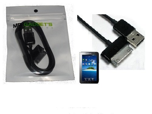 Premium Angebot Qualität schwarz USB Sync-Kabel Lead für Samsung Galaxy Tablet GT-P5101,GT-P5100,GT-P5113,GT-P5110,GT-P7510,GT-P7500,GT-P6810,GT-P1000,GT-P1010,GT-P1100,GT-P3113,GT-P3110,GT-3100,GT-P6200,GT-N8000,GT-N8010,GT-N-8013,GT-P7300,TAB 2 7