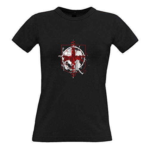 Tim And Ted England Flag Football Printed Logo Design Sport Soccer World Cup Footie League International Team Womens Ladies T-Shirt Cool Funny Gift Present