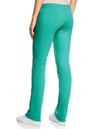 oodji Ultra Femme Pantalon en Jersey avec Liens à Nouer Vert (6D00N)