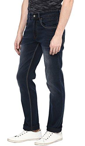 Richlook Denim Herren Regular Fit Blau beiläufige gerade Stretch Hose - Größe verfügbar Blau