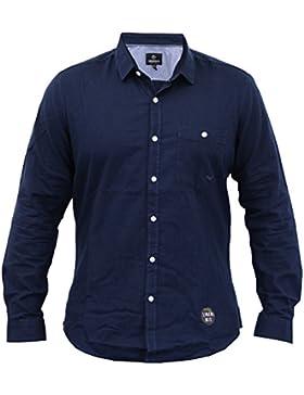 Uomo Camicia Di Lino Threadbare Con Colletto Manica Lunga Da Lavoro Formal Estivo Casual Nuovo