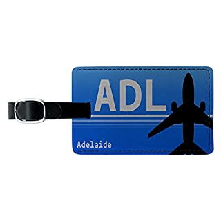 Adelaide Australia (ADL) Airport Code Leather Luggage ID Tag Suitcase Carry-On