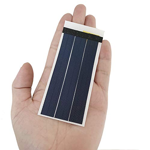 Small Flexible Solar Panel Solar Cell Science Experiments Thin Film Solar Panel DIY Solar Power Panel (Bianco)